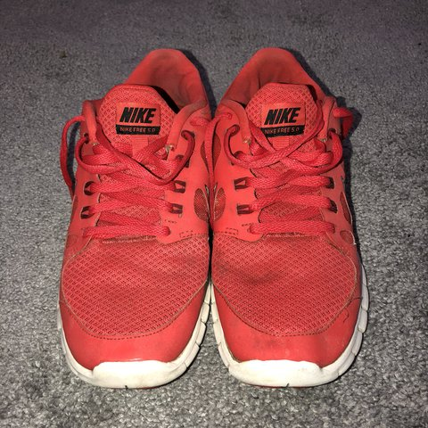 aa8b59246 Ladies Nike size 5.5 Free 5.0 running trainer shoes. Size a - Depop