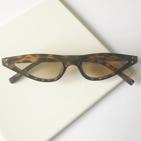 23dcc657b6 brand new tiny 90 s tinted sunglasses in brown plus cheap - Depop