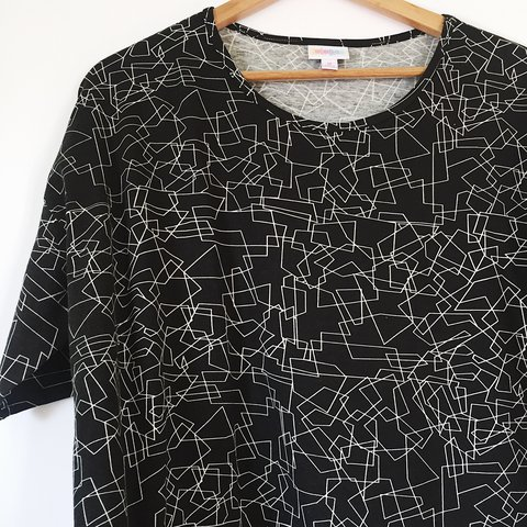 f304d38eee217e LulaRoe Irma Top — Black   White Mod Graphic top to wear of - Depop