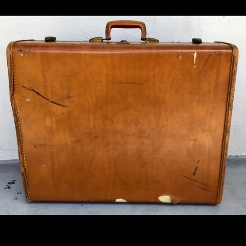 c2bfa7c8fd Vintage Samsonite Briefcase Suitcase 1950s Luggage Brown in - Depop