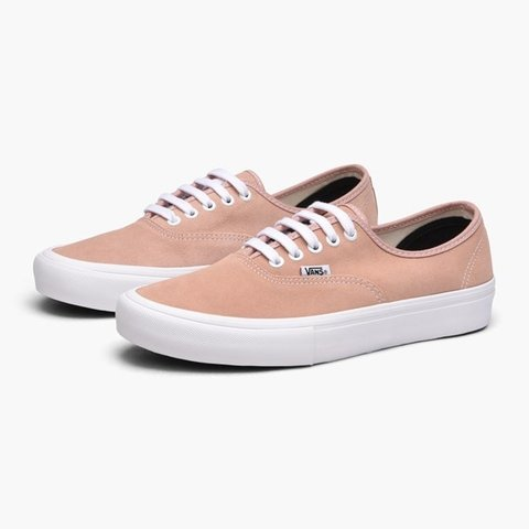 d7462afcae60 Vans Authentic Pro Shoes - Mahogany Rose   White Size UK new - Depop