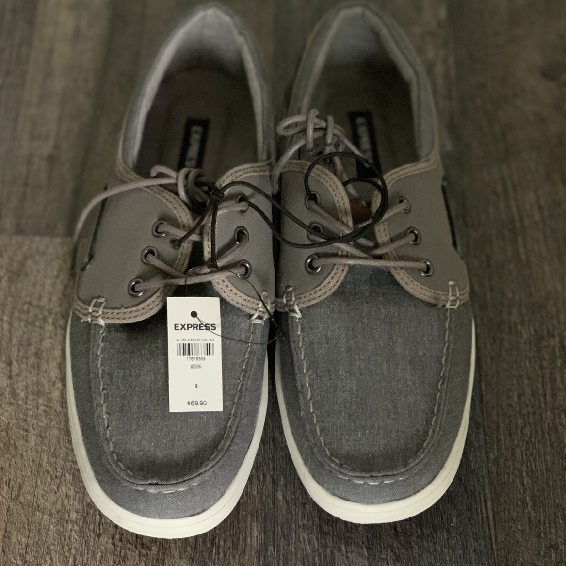 NEW] Men Express Brand Grey Boat Shoes