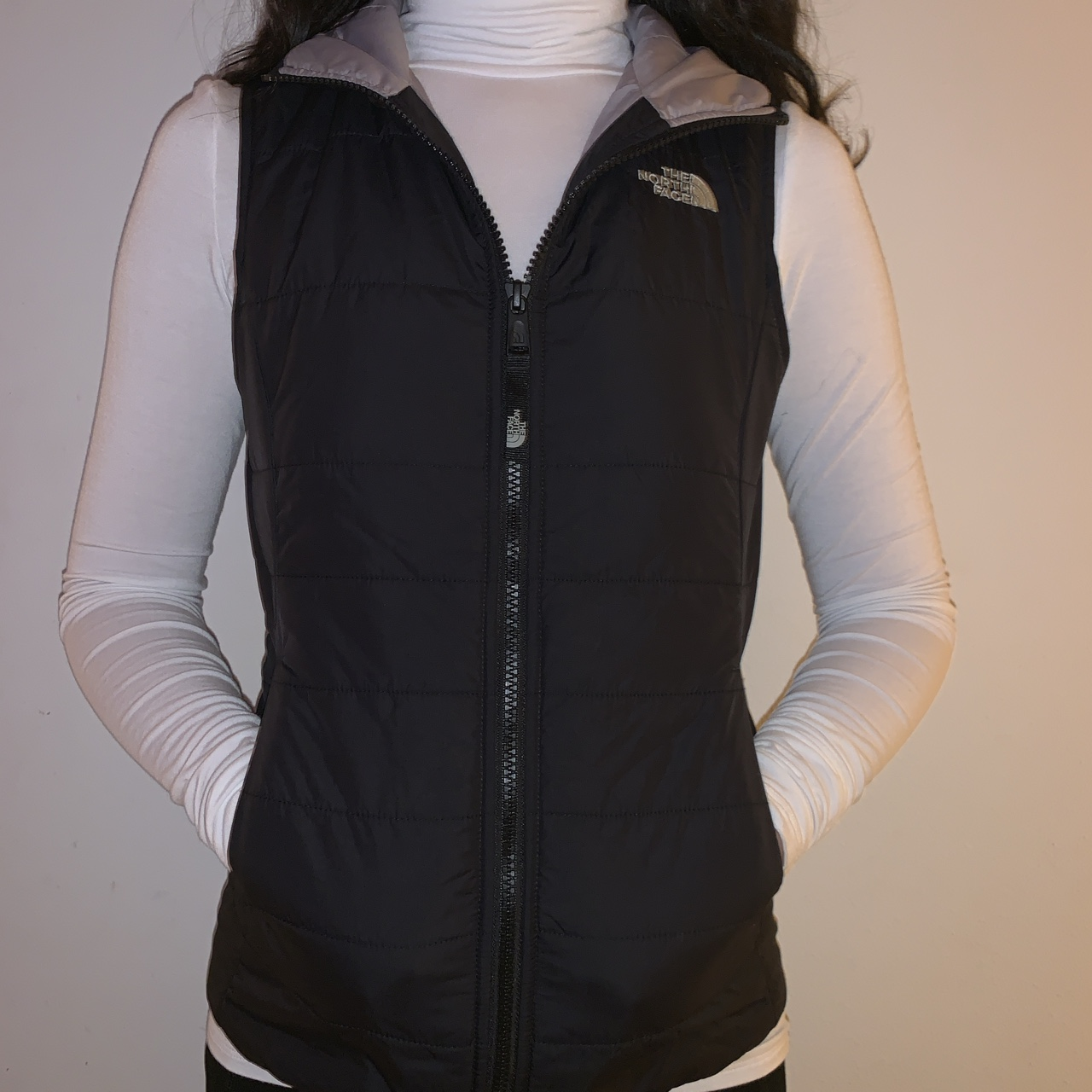 6f4be58a2 BLACK NORTH FACE PUFFER VEST. NEVER WORN. SIZE 10/12 ...