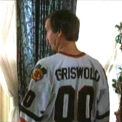 sneakers for cheap 80679 0af90 Clark Griswold Chicago Blackhawks Christmas Vacation... - Depop