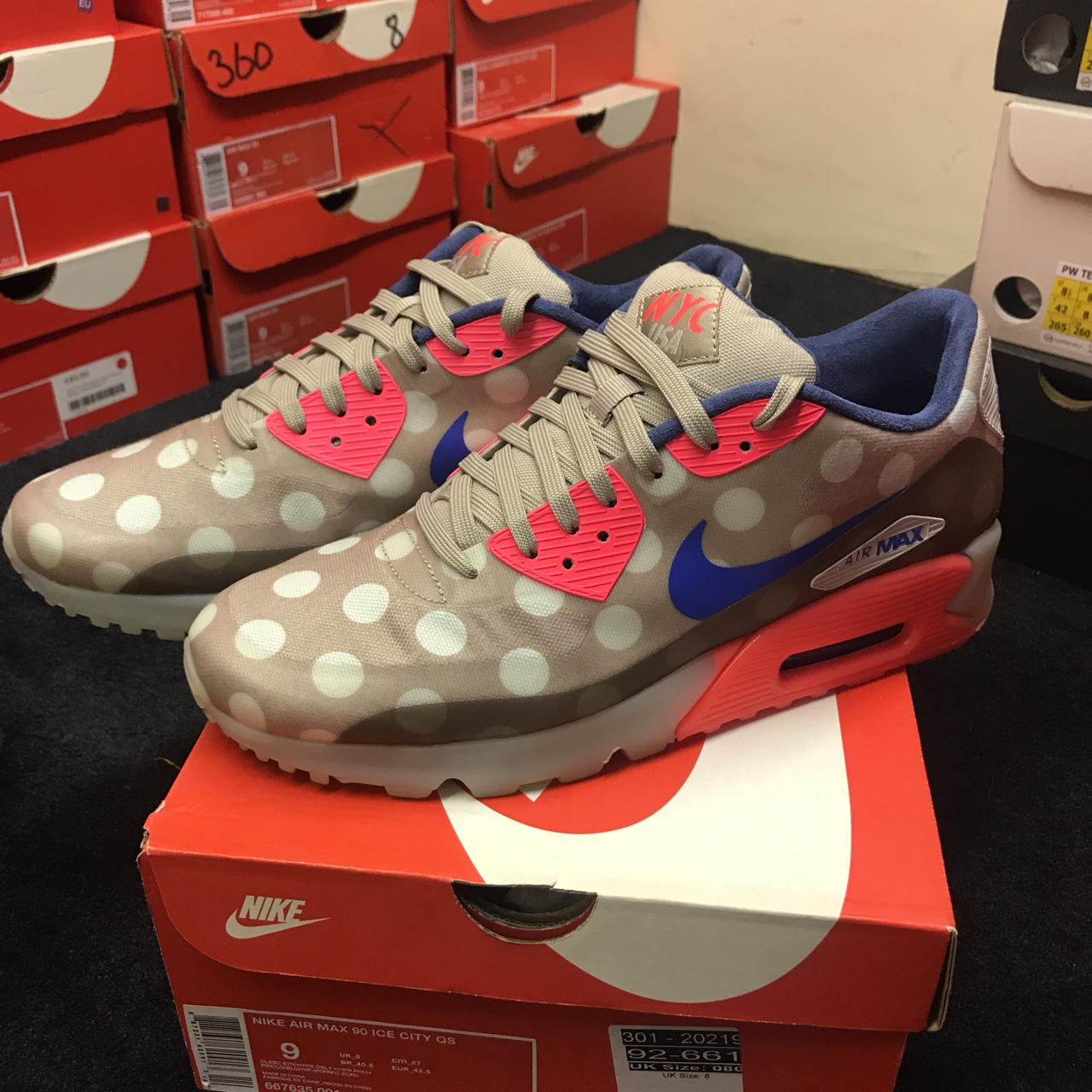 Nike Air Max 90 Ice City QS Size UK 8 Worn once in Depop