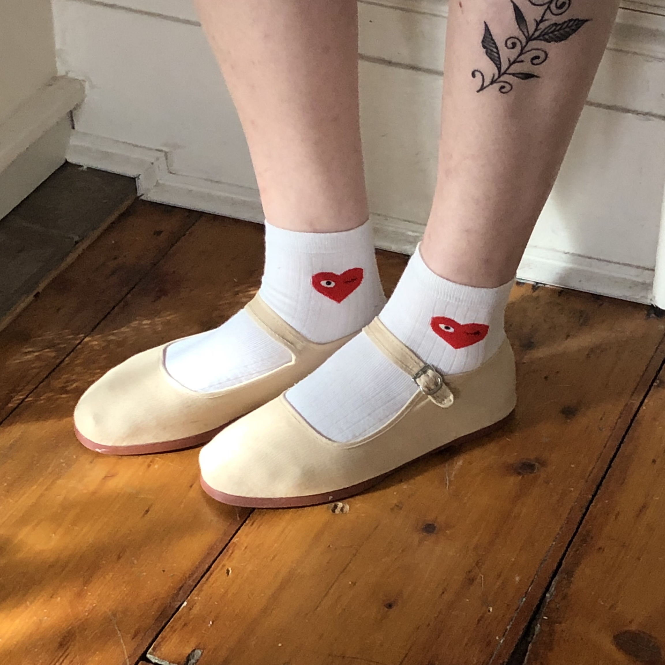 Urban Outfitters Nude Cotton Mary Janes The Most Depop