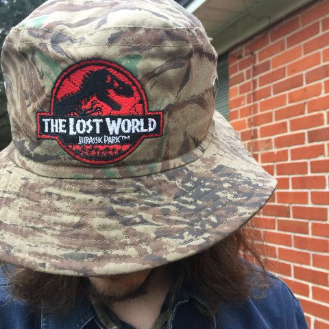 cbd46ed89 F I R E Jurassic Park The Lost World boonie hat! Straight is - Depop