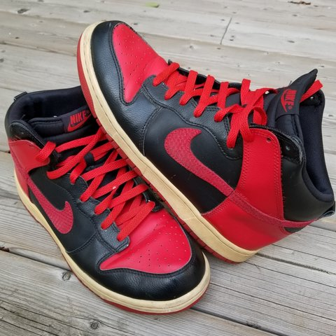 new product 86a0e 7d478 Nike Dunk High Bred Black- 0
