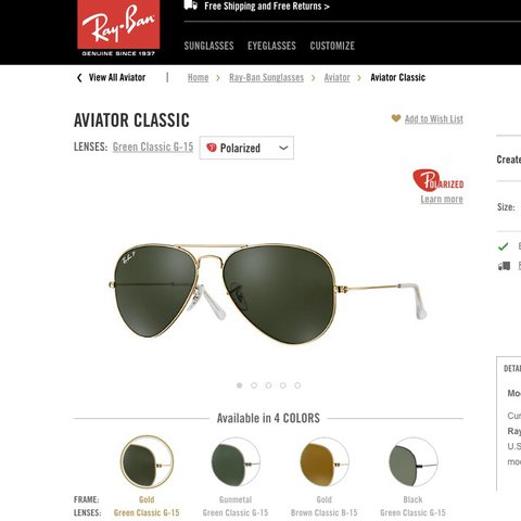 91e698c0eae Brand new Ray-Ban Aviator Classic Currently one of the most - Depop