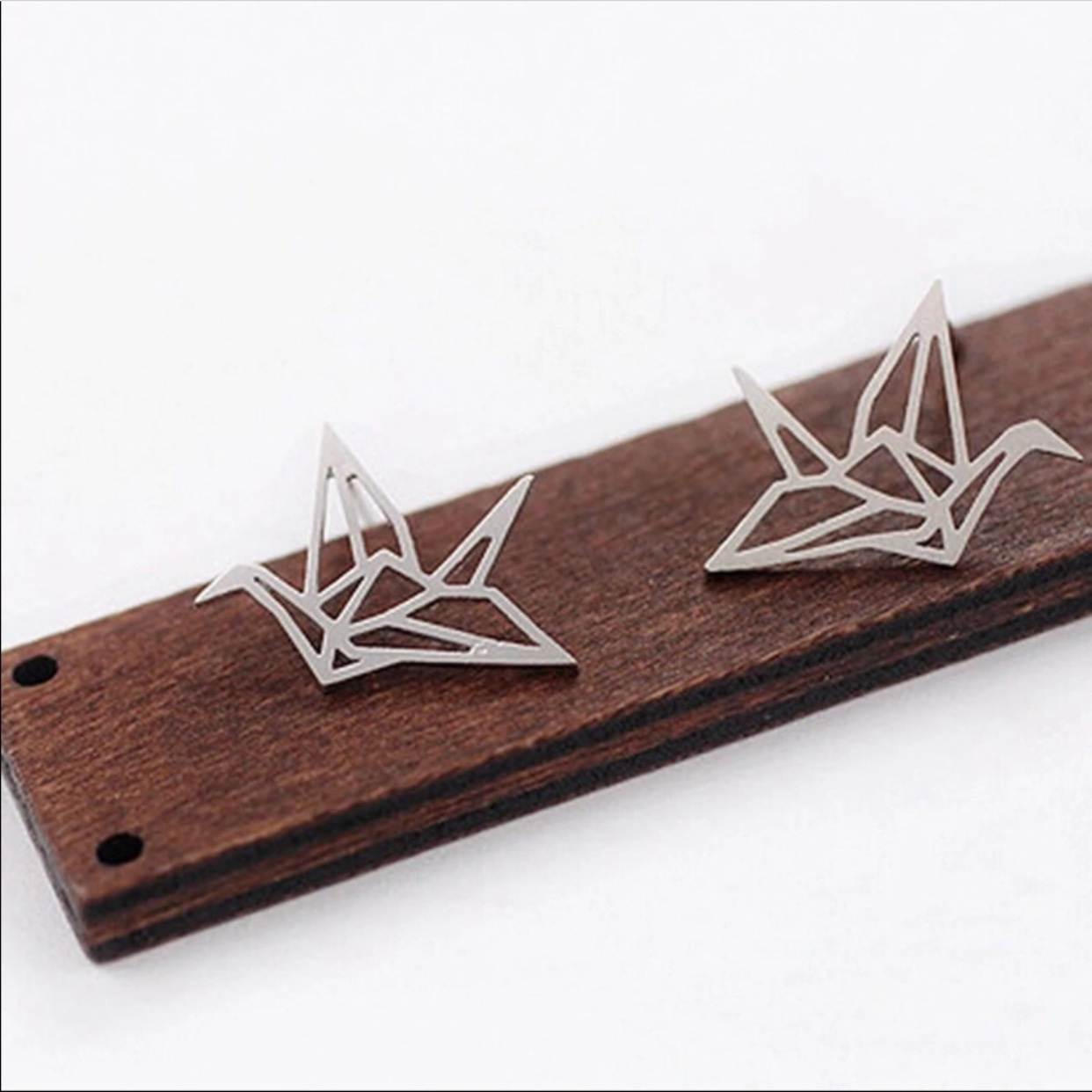 New Sterling Silver Origami Crane Post Earrings! | FoldIT Creations | 1242x1242
