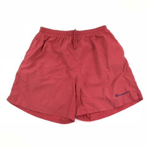 80738f8b70 @banksstreetsupply. 8 months ago. Asheboro, United States. CHAMPION Swim  Trunks Shorts Mens Size XL Red Double Logo Spell Out Vintage