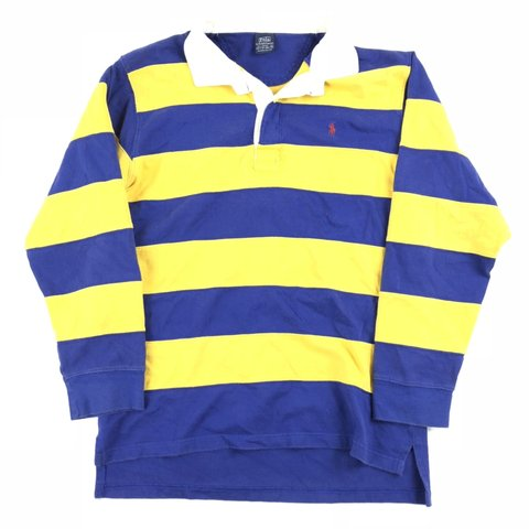 df4a8096cc07 @banksstreetsupply. 8 months ago. Asheboro, United States. Vintage Polo  Ralph Lauren Striped Rugby Shirt ...