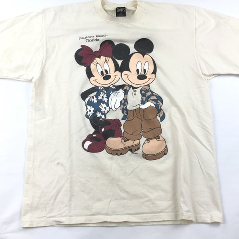 42f84e4b41aa @banksstreetsupply. 5 months ago. Greensboro, United States. Vintage 90s T  Shirt Double Sided Graphic Disney Mickey Minnie Mouse Sz XL Retro