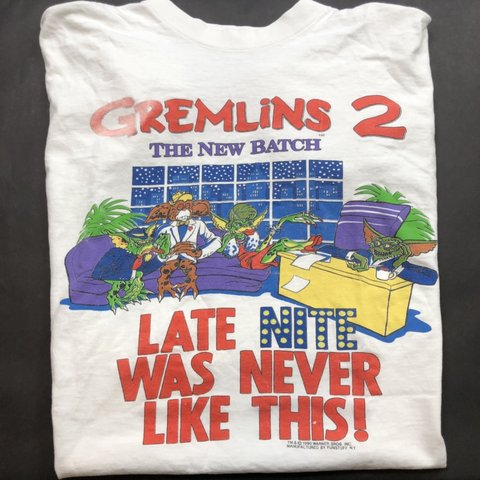 The 2 Tee Depop Gremlins Shirt New 90s T Vintage Promo Batch Movie R5A3jLq4