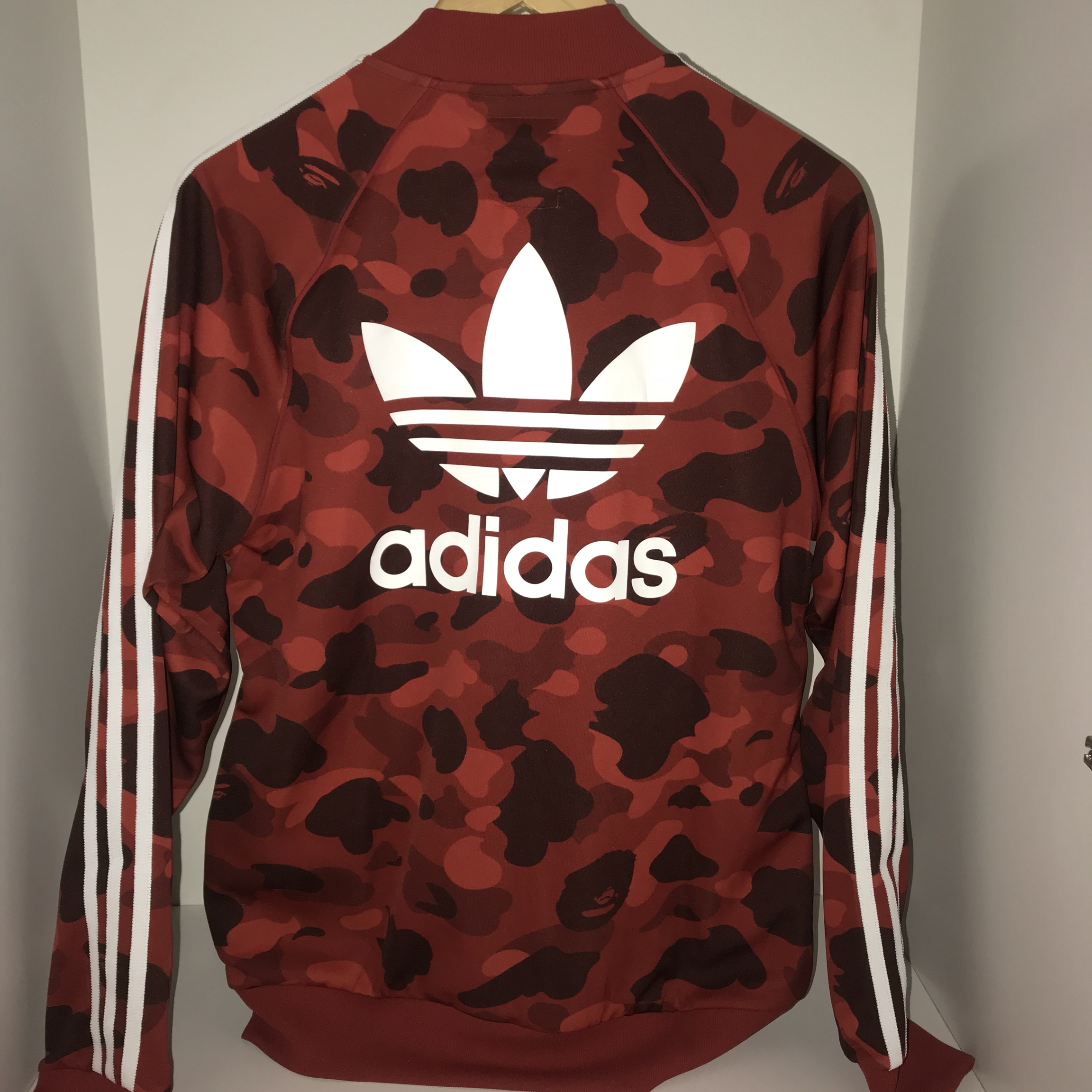 BAPE x adidas World Cup 2018 Winning Collection Zip Up Track Jacket Red