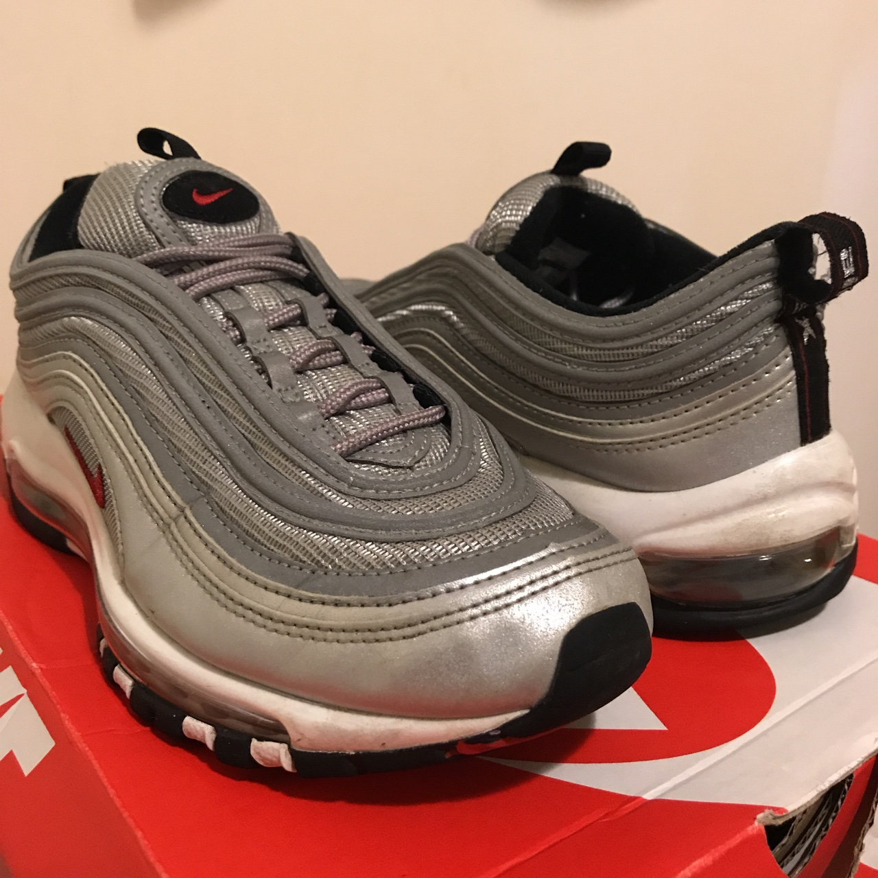 low priced d5dad ceec0 **PUNCTURED BUBBLE ON BOTH FEET** Air Max 97 OG ...