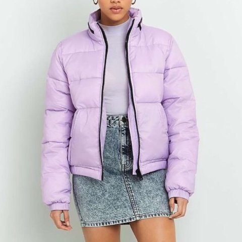 Lilac purple puffer coat from urban outfitters Size S fit - Depop 91b1e4b1e