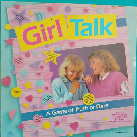 e9806f73abb0 1988 Retro Girl Talk Game! Get Your Besties & Your Because , - Depop