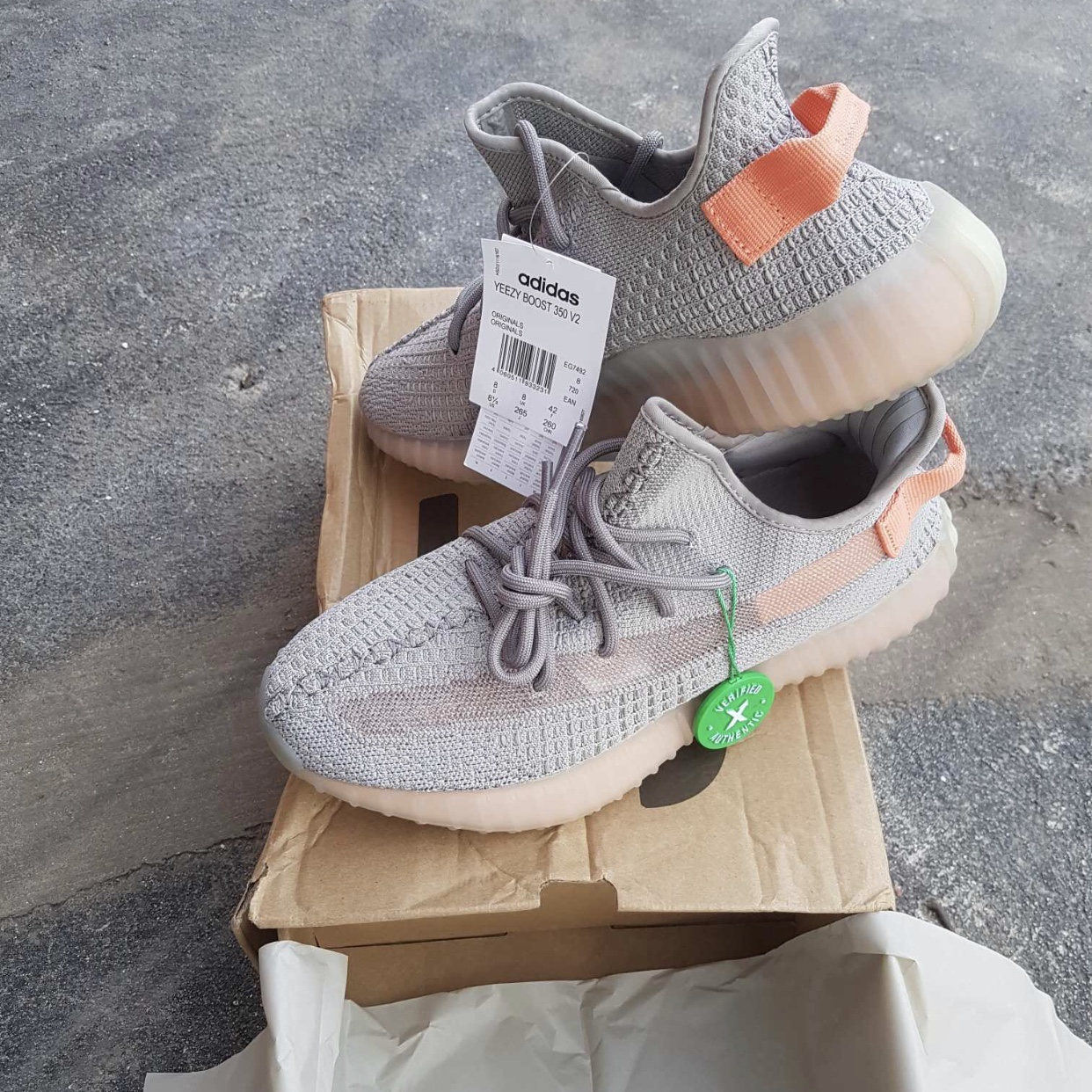 yeezy coral pink
