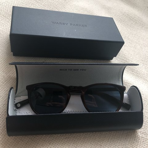 77c11285e9 Warby Parker Haskell sunglasses with polarized lenses. Brand - Depop