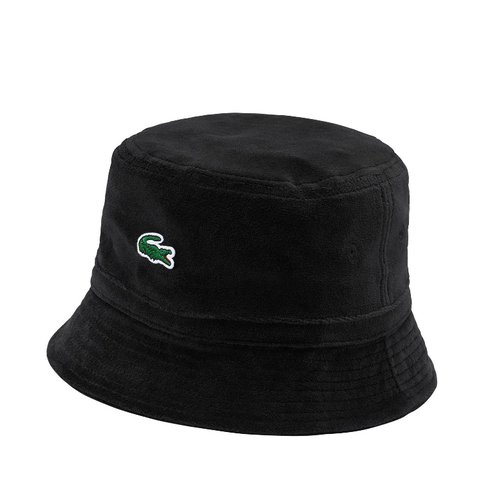 Supreme x Lacoste Velour Crusher Hat M L Black 🐊 -Order is - Depop 6b5fec96069