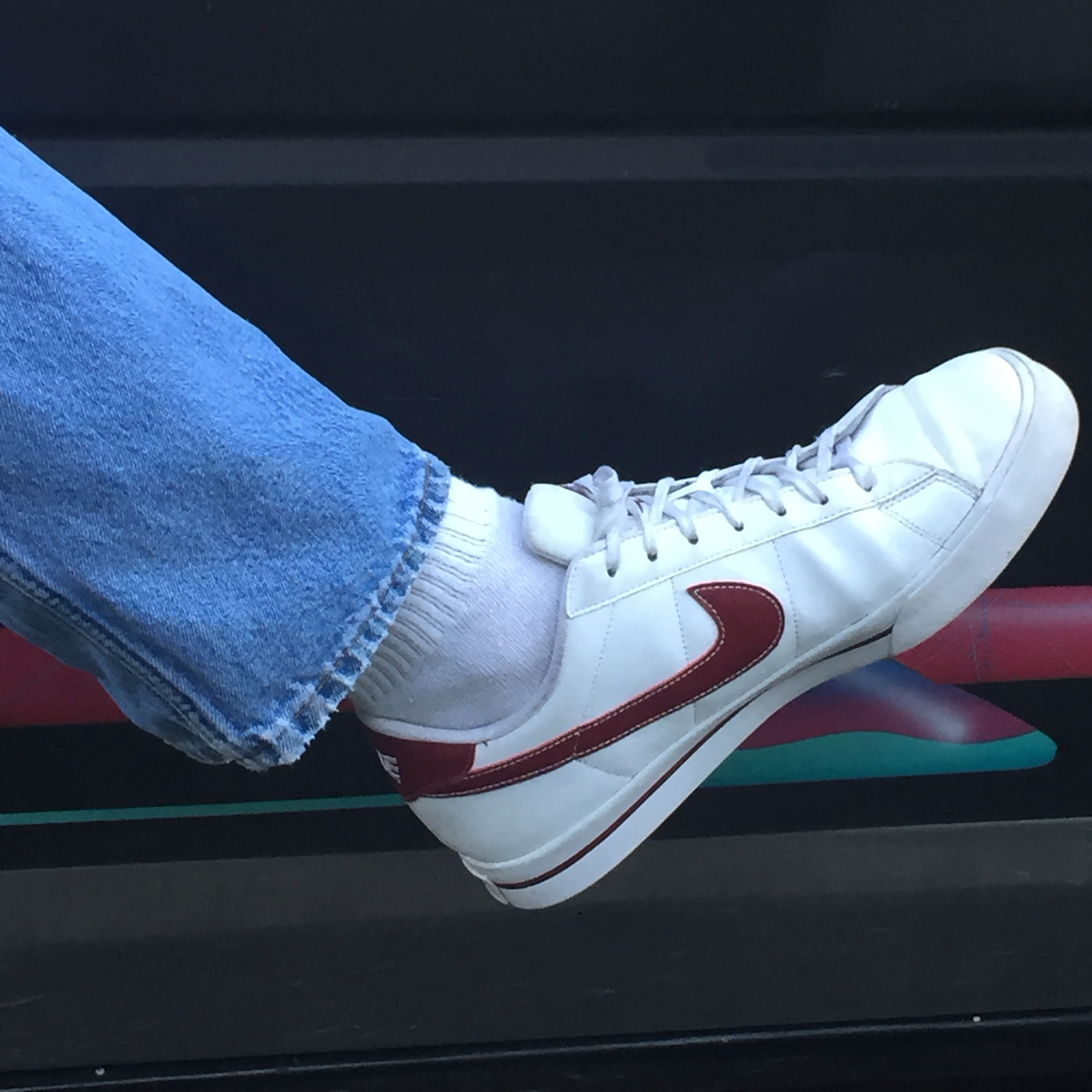 red and white nikes