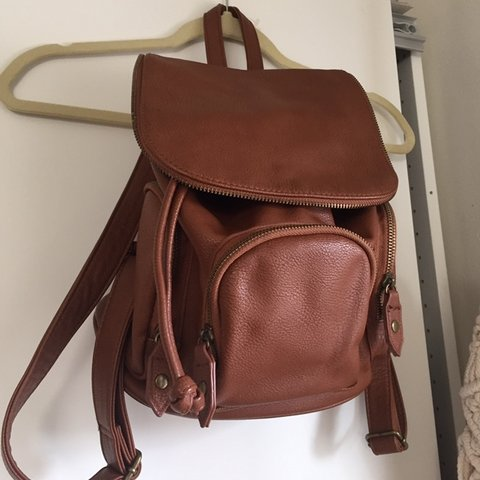 """1ad21c9b27 Cute little leather backpack About 12"""" tall and 8"""" wide + . - Depop"""