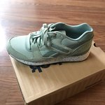 8f6dc58ccb88f2 Reebok Classics Classic Leather Suede Green Pastel Shoes 6. - Depop
