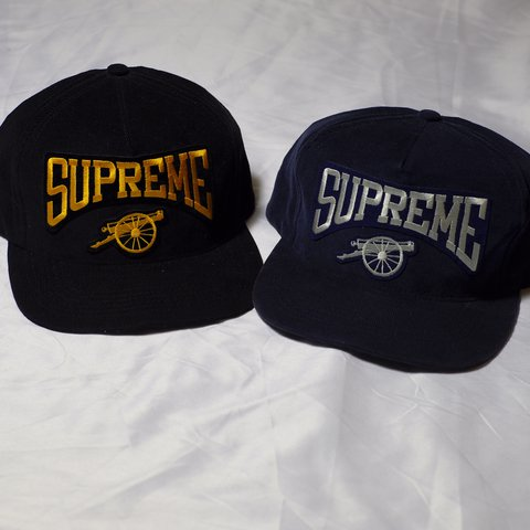 234cd6d6 2 Supreme Cannon MicroCorduroy Snapbacks Color: 1-Navy Blue/ - Depop