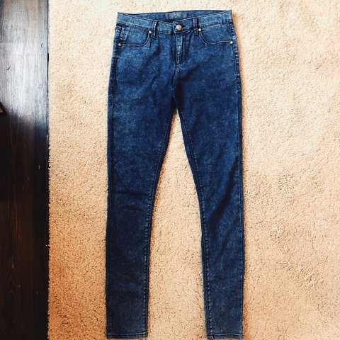 topshop acid wash blue grey skinny jeans would fit size depop