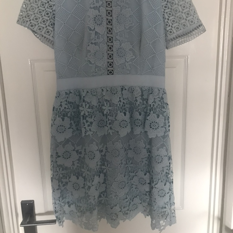 Ted Baker Dixa Baby Blue Layered Lace Skater Depop