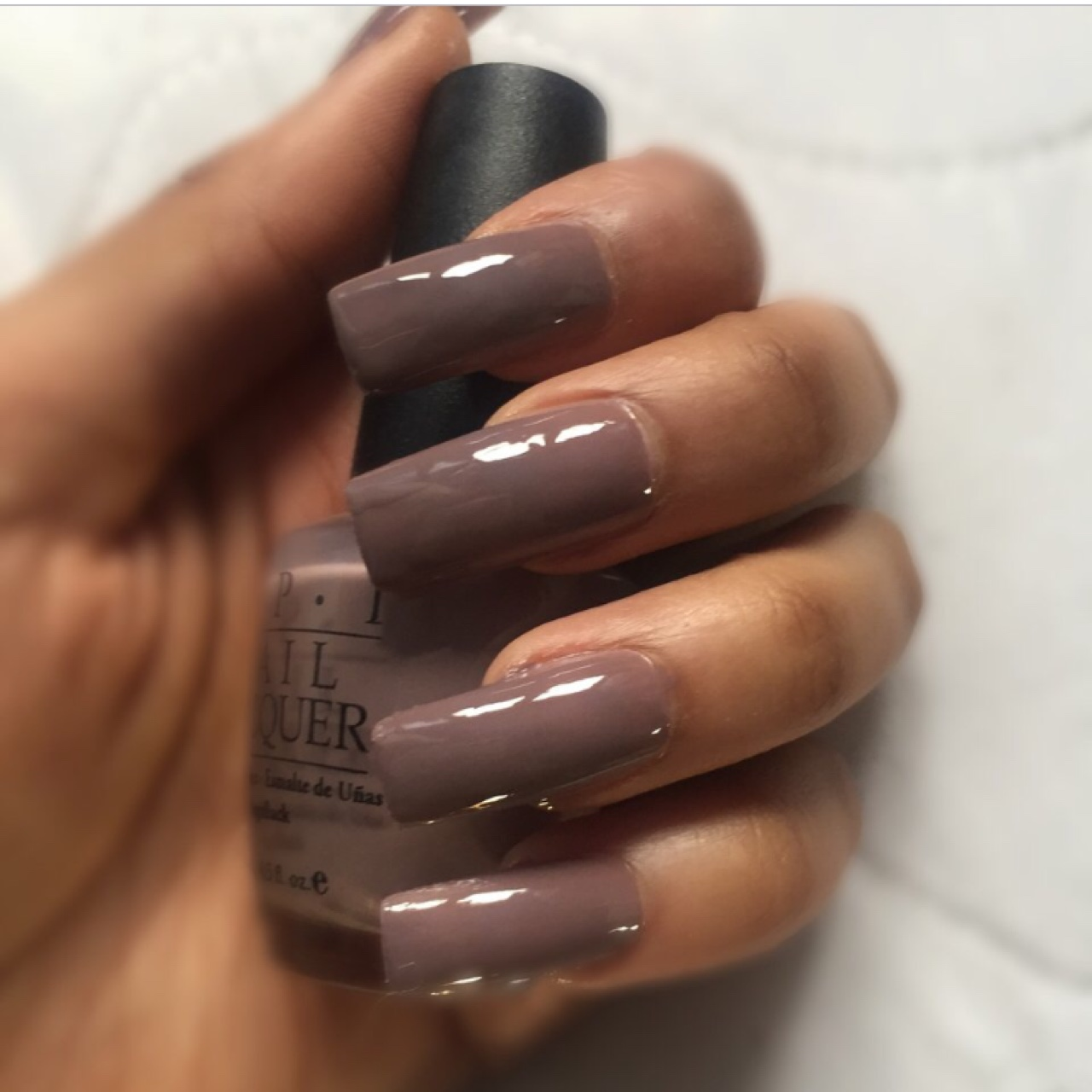 Gorgeous long grey/purple square nails by OPI, Can    - Depop