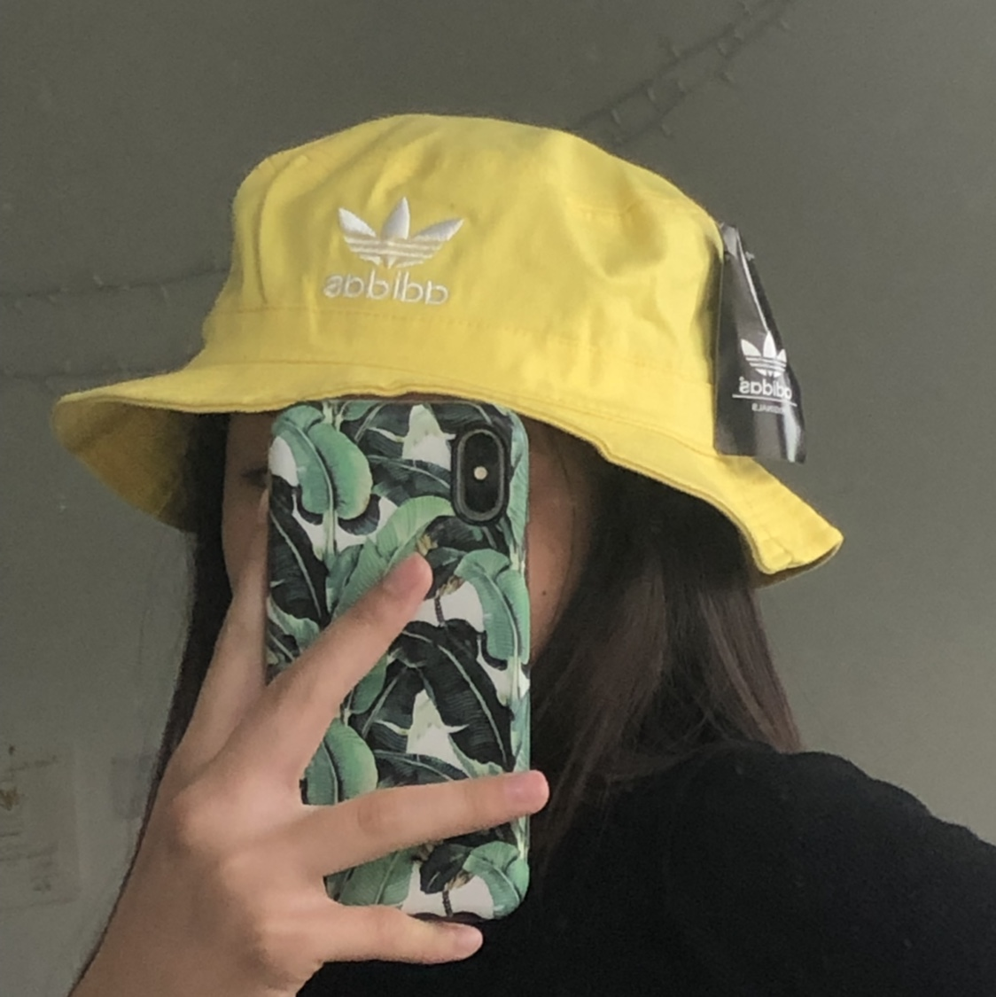 New Yellow Adidas Bucket Hat Super Cute And Depop