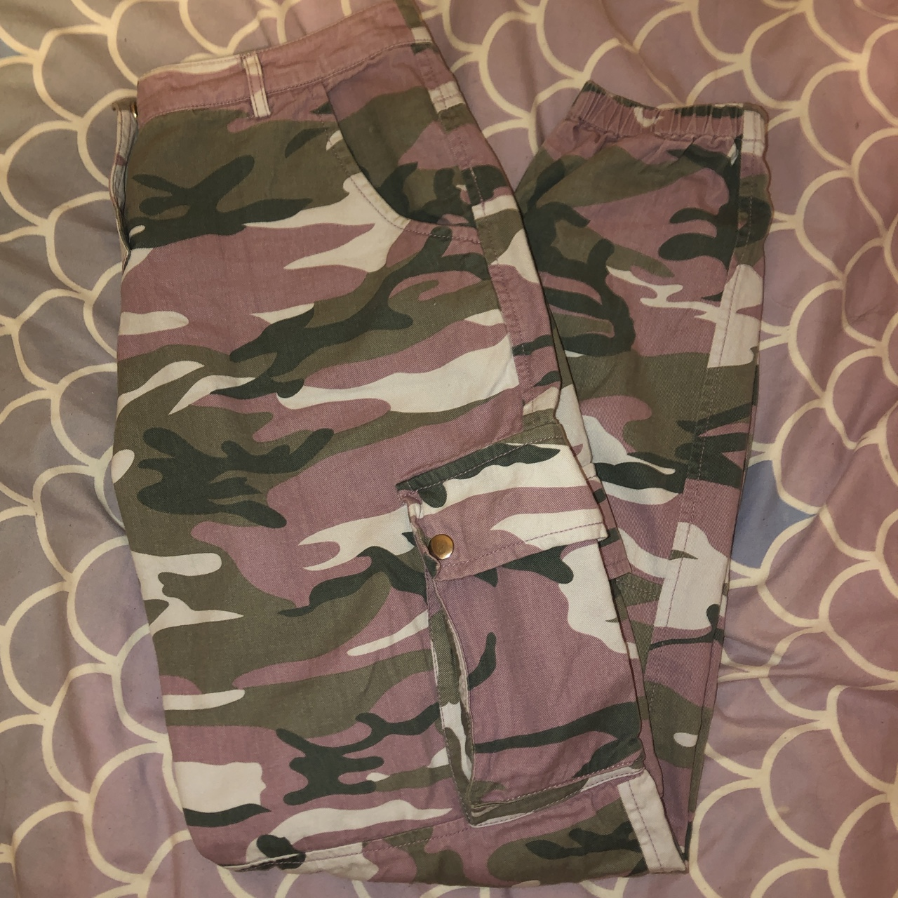 60% clearance buy online colours and striking Pink camo trousers New look age 15- will fit size... - Depop
