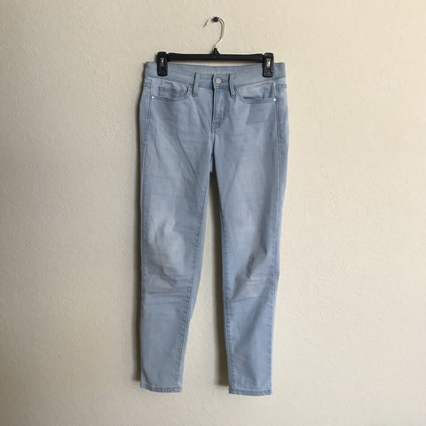 260e936362a7 Calvin Klein light blue faded mid rise ankle skinny jeans. a - Depop