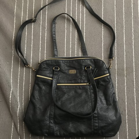 ddd50c32a0 Black Leather Vans Purse. Barely used. Originally  40. is - Depop