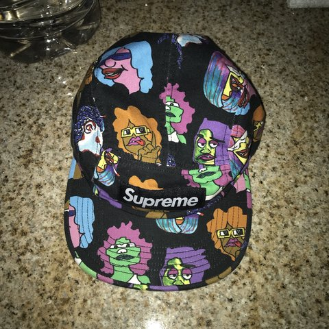 918cbcb26b4 Supreme gonz heads camp cap 8 10 condition Over 100 on rn + - Depop