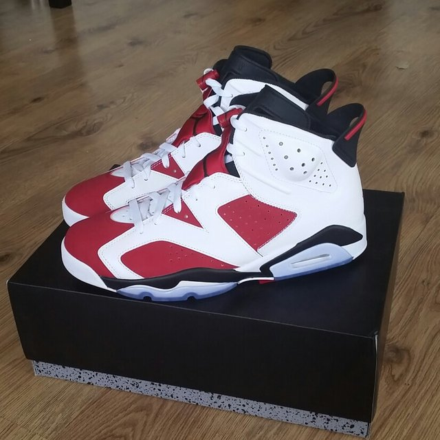 327c641bb5902a Nike air jordan 6 carmine Retro (uk size 10) BRAND NEW.These - Depop