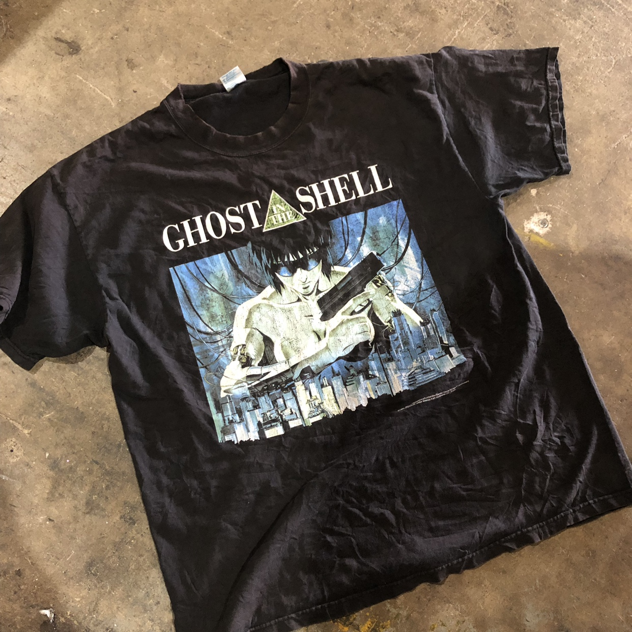 Vintage 1995 Ghost In The Shell Tee Size Xl On Tag Depop