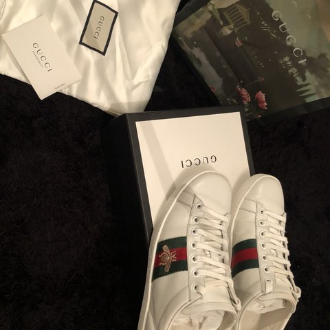 e1277a1368a UK women s size 4 Gucci Ace embroidered sneaker. Purchased I - Depop
