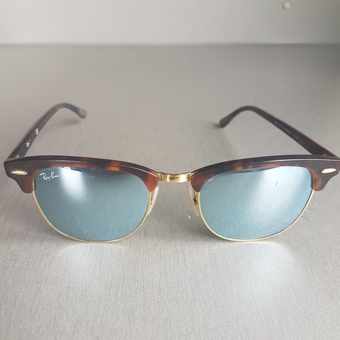 abdf29838fbd6 Rayban Clubmaster sunglasses. Mirror lens. There is small on - Depop