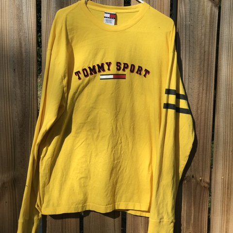 5042b8ac Tommy Sports Vintage Yellow Long Sleeve⚠ Hilfiger, Jeans, - Depop