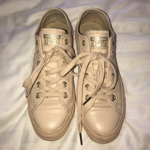 5e63a715b324 NEW LISTING  NUDE ALL STAR CONVERSE. Leather
