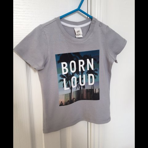 32a2e1503723 H&M Born Loud baby boys t-shirt ~ like new ~ 9-12 months - Depop