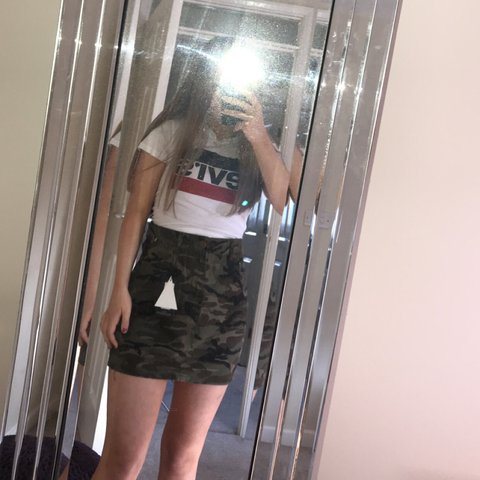 b09a4499c9cb @katiedaviox. 3 months ago. Stoke-on-Trent, United Kingdom. Pretty little  thing camo denim skirt, still got tags on, never worn, size 8.