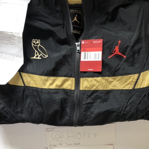 6cc5c5251a78c4 Jordan x OVO track jacket large with receipt and tag. Only - Depop