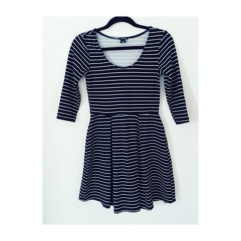 79c3843c56 Fit and flare striped skater dress