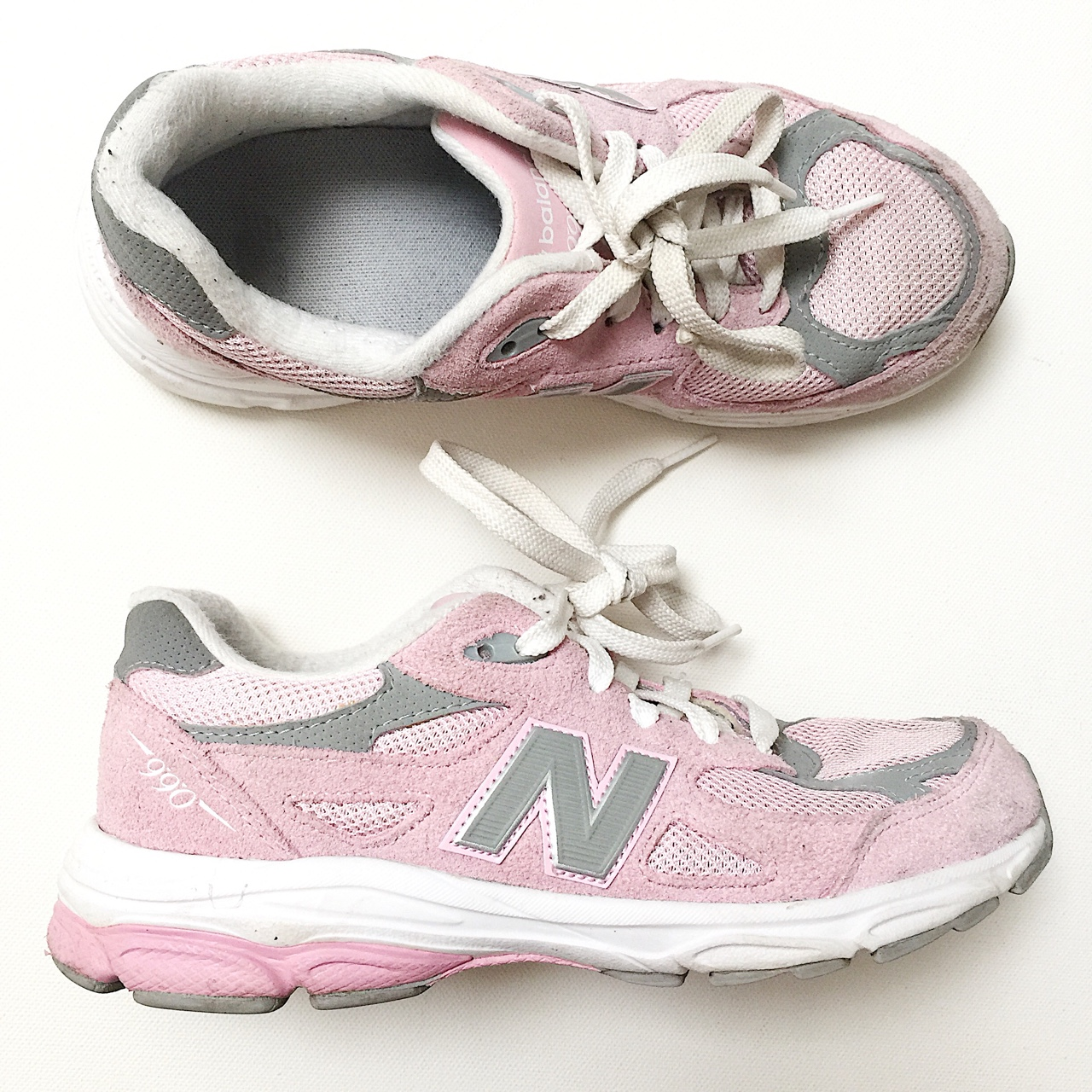 reputable site d2aca e888a Baby pink new balance 990 • have been worn a handful ...