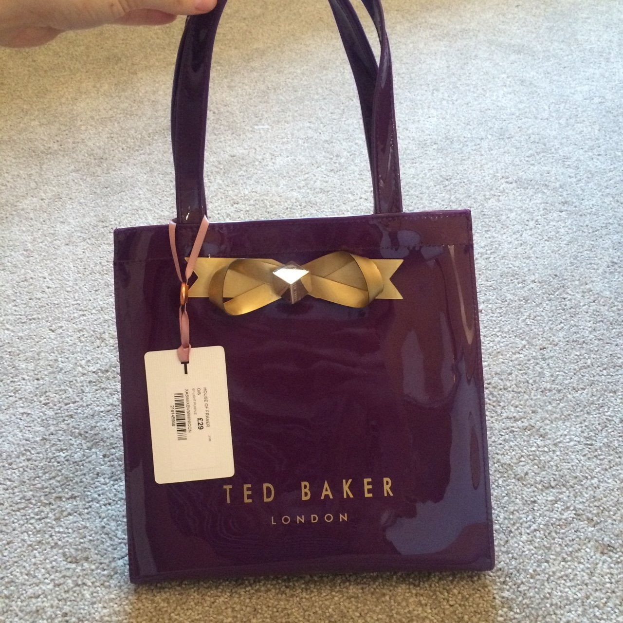 a2d15682f Ted baker purple bag