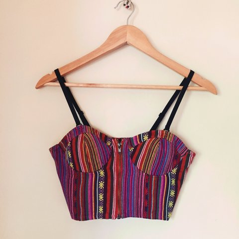 a9b291cc4c4 @riannabrooke. 3 years ago. Surbiton, UK. Multi coloured aztec pattern crop  FOREVER 21 ...